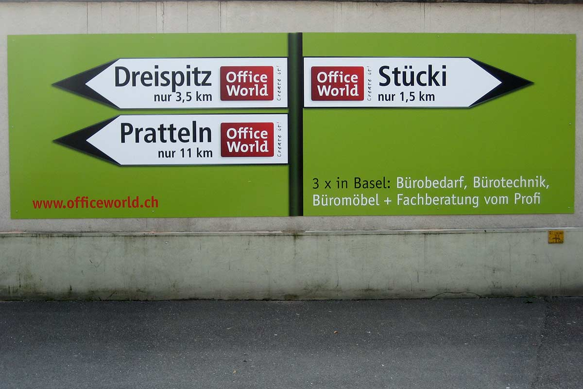 Werbetechnik Schilder