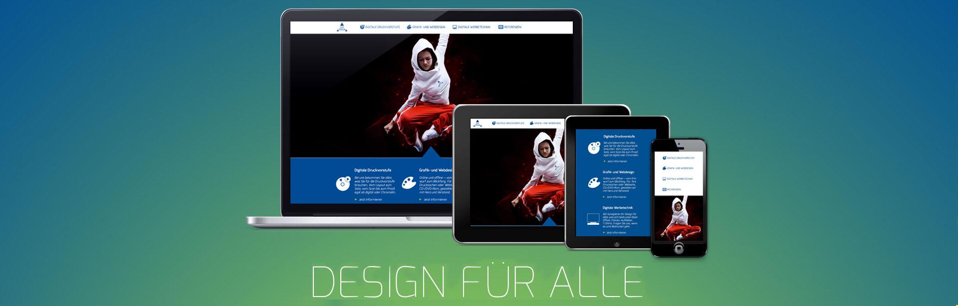 Grafik- und Webdesign für alle Papiere und Geräte optimiert
