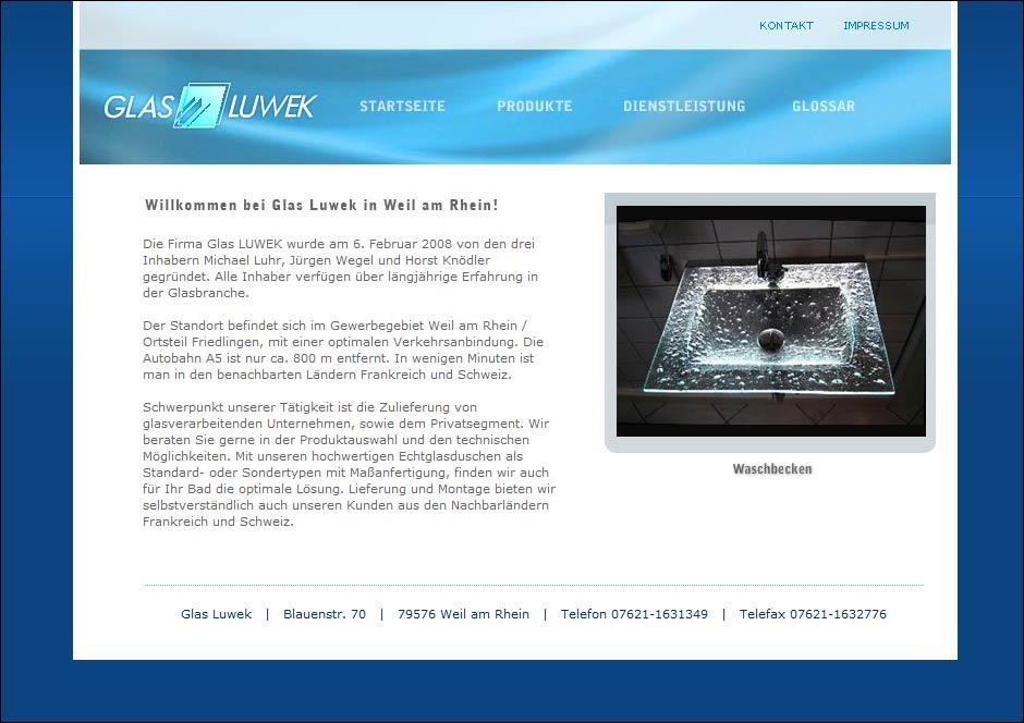 Website www.glas-luwek.de