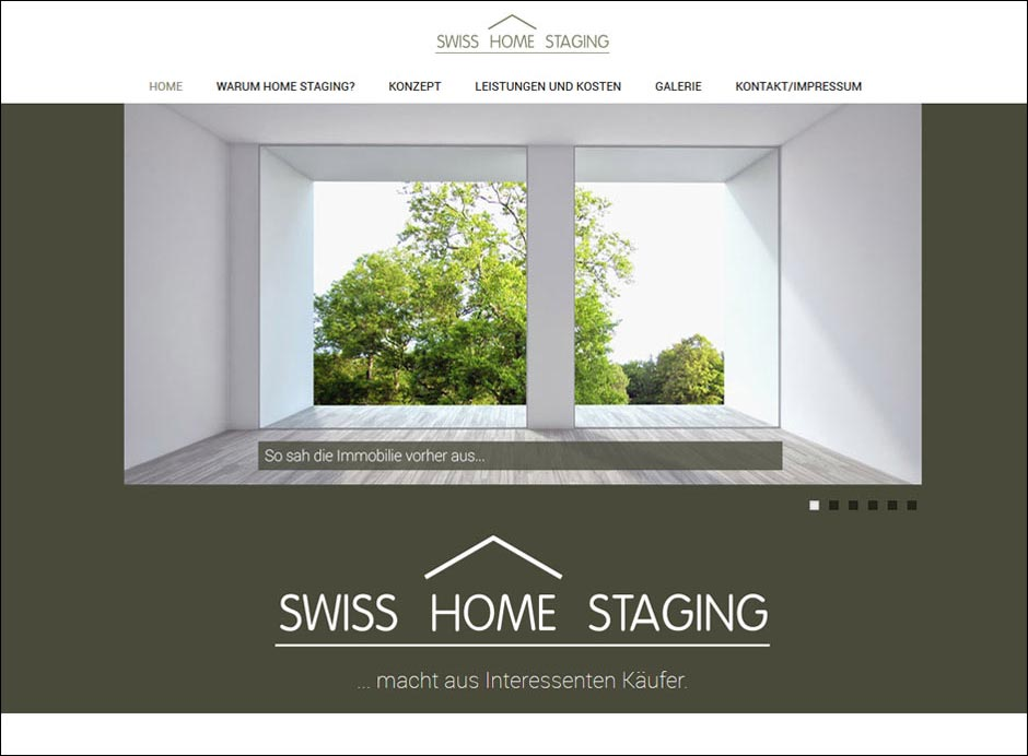Responsive Website www.swiss-homestaging.ch